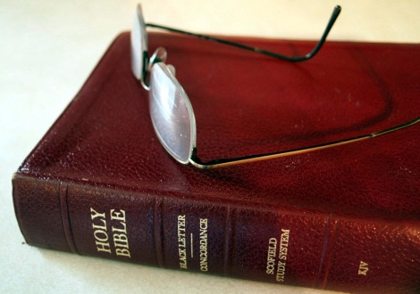 Glasses with Bible